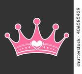 pink girly princess royalty... | Shutterstock .eps vector #406585429