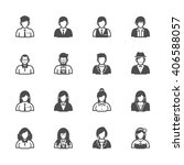 people icons with white... | Shutterstock .eps vector #406588057