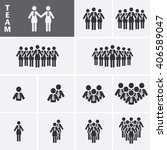 businesswoman icons set. team...   Shutterstock .eps vector #406589047