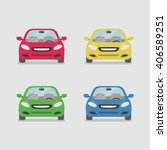 car front view vector | Shutterstock .eps vector #406589251