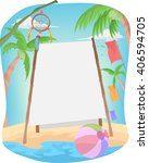 banner illustration featuring a ... | Shutterstock .eps vector #406594705