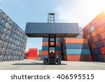 toplift handling container box... | Shutterstock . vector #406595515