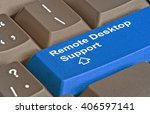 key for remote desktop support | Shutterstock . vector #406597141