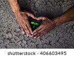hands forming a heart shape... | Shutterstock . vector #406603495