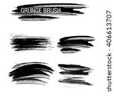 vector set of grunge brush... | Shutterstock .eps vector #406613707