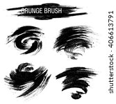 vector set of grunge brush... | Shutterstock .eps vector #406613791
