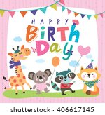 happy birthday | Shutterstock .eps vector #406617145