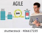 agile lifecycle. agile process... | Shutterstock . vector #406617235
