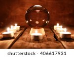 candle divination tarot cards | Shutterstock . vector #406617931