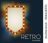 vintage shining retro light... | Shutterstock .eps vector #406618351