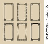 set of geometric frames .... | Shutterstock .eps vector #406620127