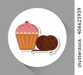 cupcake icon design   vector... | Shutterstock .eps vector #406625959