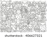 pattern for coloring book. a4... | Shutterstock .eps vector #406627321