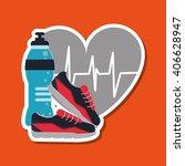 gym icon design   vector... | Shutterstock .eps vector #406628947
