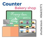counter bakery shop | Shutterstock .eps vector #406631971