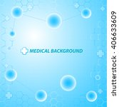 medical background abstract... | Shutterstock .eps vector #406633609