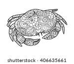 crab sea animal coloring book... | Shutterstock . vector #406635661