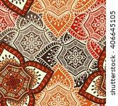 seamless pattern. vintage... | Shutterstock .eps vector #406645105