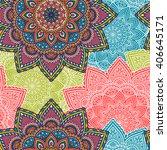 seamless pattern. vintage... | Shutterstock .eps vector #406645171