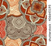 seamless pattern. vintage... | Shutterstock .eps vector #406645195