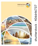 travel collage. can be used for ... | Shutterstock . vector #406646737