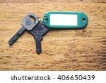 Keys With Blank Key Fob On...