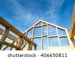 new house construction interior ... | Shutterstock . vector #406650811