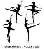 set of ballet dancer   Shutterstock .eps vector #406656109