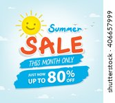 summer sale heading design for... | Shutterstock .eps vector #406657999
