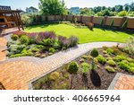 beautiful landscaping with...