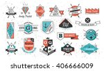 set of retro signs and badges... | Shutterstock .eps vector #406666009