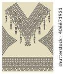 design neckline  sleeves and... | Shutterstock .eps vector #406671931