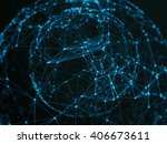 abstract sphere geometry orb... | Shutterstock . vector #406673611