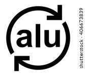 aluminium recycling symbol alu  ... | Shutterstock .eps vector #406673839