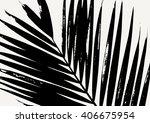 palm leaf silhouette in black...   Shutterstock .eps vector #406675954
