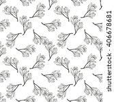 spring flowers seamless pattern....   Shutterstock .eps vector #406678681
