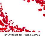 Romantic Red Rose Petals On...
