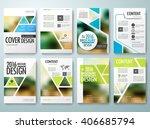set of flyers design template... | Shutterstock .eps vector #406685794