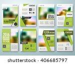 set of flyers design template... | Shutterstock .eps vector #406685797