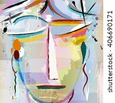 Abstract Artwork  Face Of A...