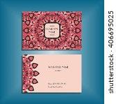 oriental business card mock up... | Shutterstock .eps vector #406695025