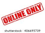 online only red stamp text on... | Shutterstock .eps vector #406695739