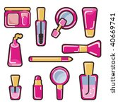 cosmetic icon set | Shutterstock .eps vector #40669741