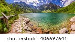 Panorama Of Pond In The Tatra...