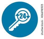 blue circle 24 hour locksmith... | Shutterstock . vector #406698505