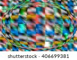 abstract futuristic globe. art... | Shutterstock . vector #406699381