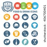food and drink icons vector | Shutterstock .eps vector #406700401