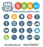 engine cargo and logistic icons ... | Shutterstock .eps vector #406700587