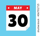 calendar icon flat may 30