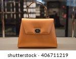 woman handbag in a showcase of... | Shutterstock . vector #406711219